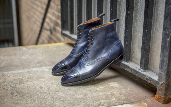 mens navy work boots gv 5532 5