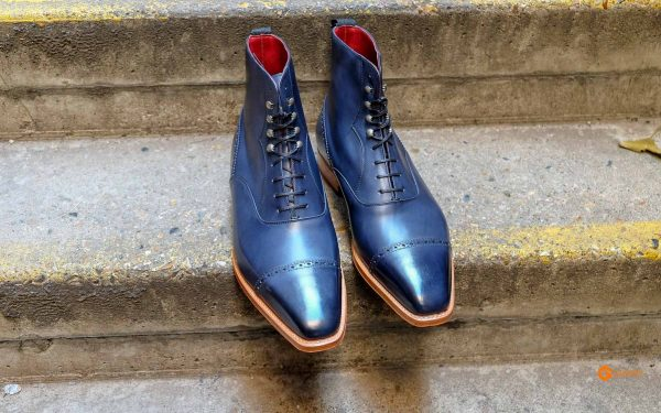 mens navy work boots gv 5533 6
